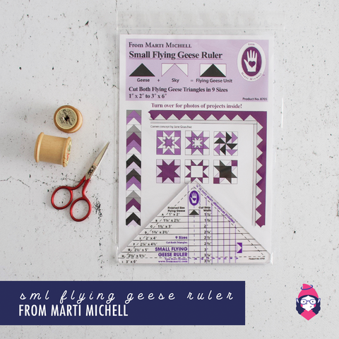 Flying Geese Ruler (Small) - Marti Michell