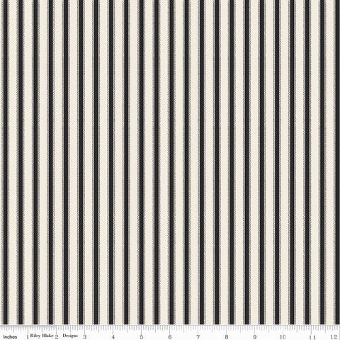Riley Blake - Happy Haunting - Stripe - Cream