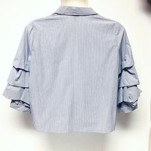 Load image into Gallery viewer, Ruffled 3/4 Sleeve Top size XXL