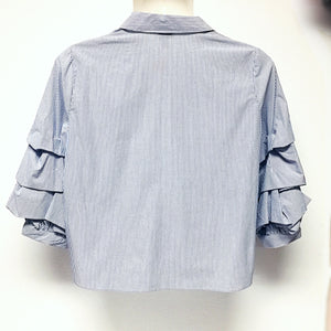 Ruffled 3/4 Sleeve Top size XXL