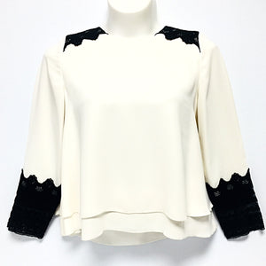 NWT Chicos Long Sleeve Top Sz 1 (M)