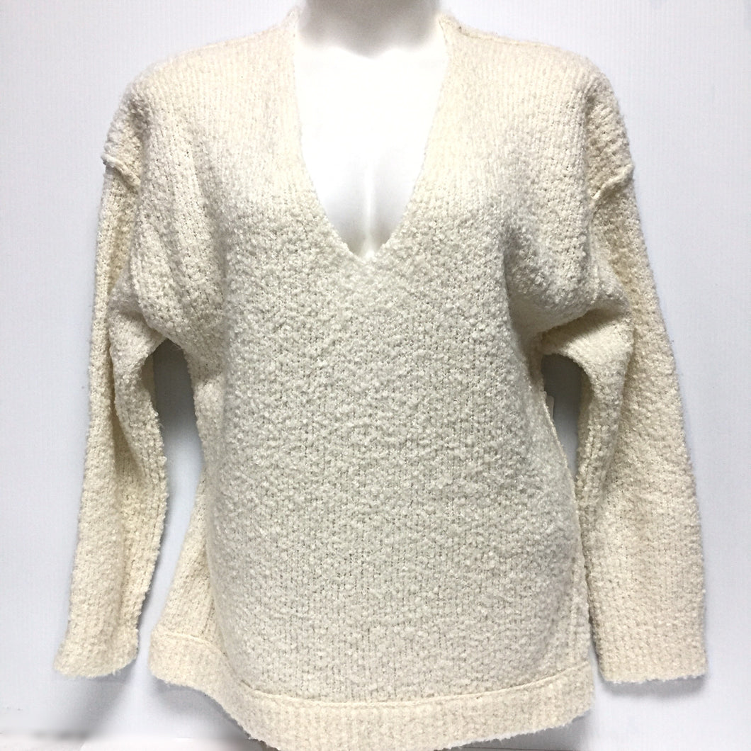 Free People Cream Sweater Sz M