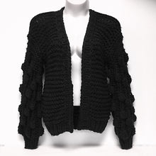Load image into Gallery viewer, Black NWT Heavy Knit Sweater Sz O/S
