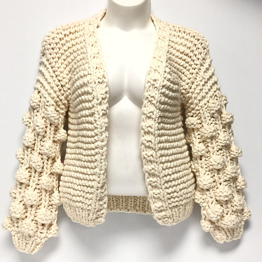 Cream Heavy Knit Sweater Sz O/S