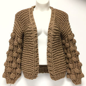 Brown Heavy Knit Sweater Sz O/S