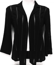 Load image into Gallery viewer, CHANEL Open Front Black Jacket, Size 40 (L/XL)