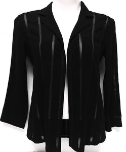 CHANEL Open Front Black Jacket, Size 40 (L/XL)