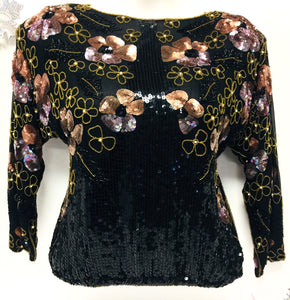 Beaded Sequined Top, Size XL