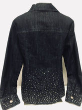 Load image into Gallery viewer, Chico's Platinum Jean Jacket, Size 1 (Medium)