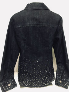 Chico's Platinum Jean Jacket, Size 1 (Medium)