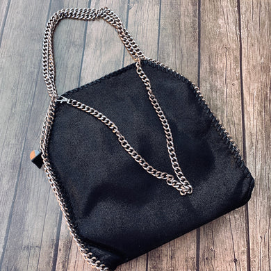 Metallic Suede Handbag