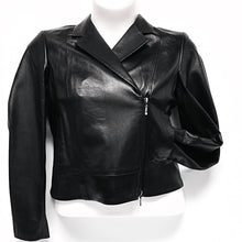 Load image into Gallery viewer, Black Leather Jacket Sz 12