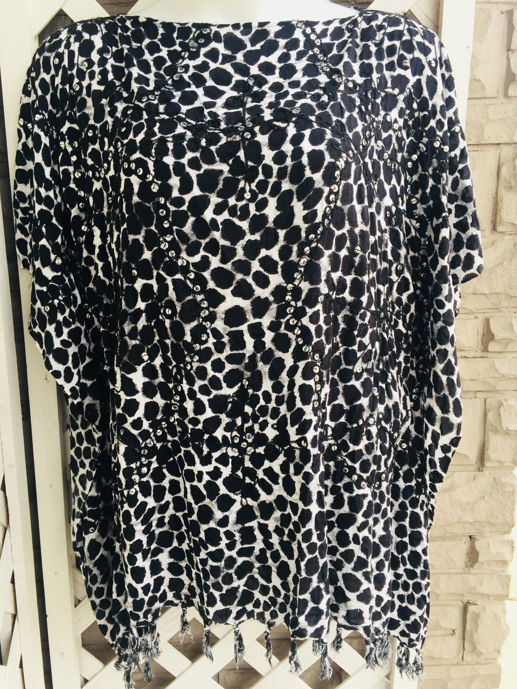 Animal Print Poncho One size