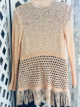 Load image into Gallery viewer, Chico's Peach Shrug sz 3 (XL)