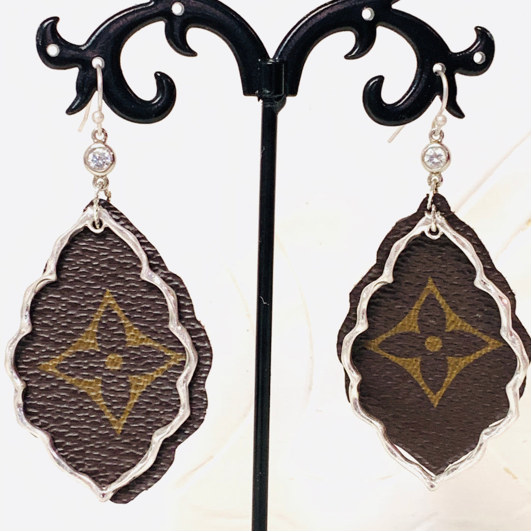 Upcycled Louis Vuitton Earrings
