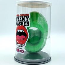 Load image into Gallery viewer, Weenie washer soap, weener cleaner, wiener cleaner, weiner washer, willy washer soap, man gift, man soap, penis soap, Mouth soap, masturbate soap, shower sex soap, dick soap, shower masturbation, masturbator, gag gift soap, sexy gift, gay gift for him novelty gift, bachelor, gay, penis soap, green penis soap, martian, gag gift