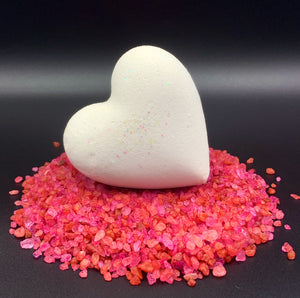 Heart Bath Bombs, White Heart Individuals 'Wicked White' Made in the USA
