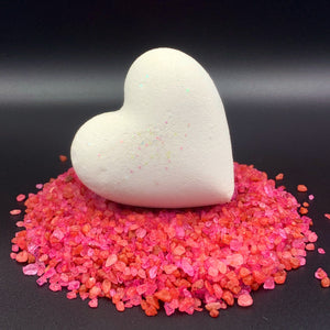 Heart Bath Bombs Valentine Heart Individuals Purple 'Passion'