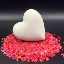 Load image into Gallery viewer, Heart Bath Bombs, Black Heart Individuals 'Black Velvet' Made in the USA