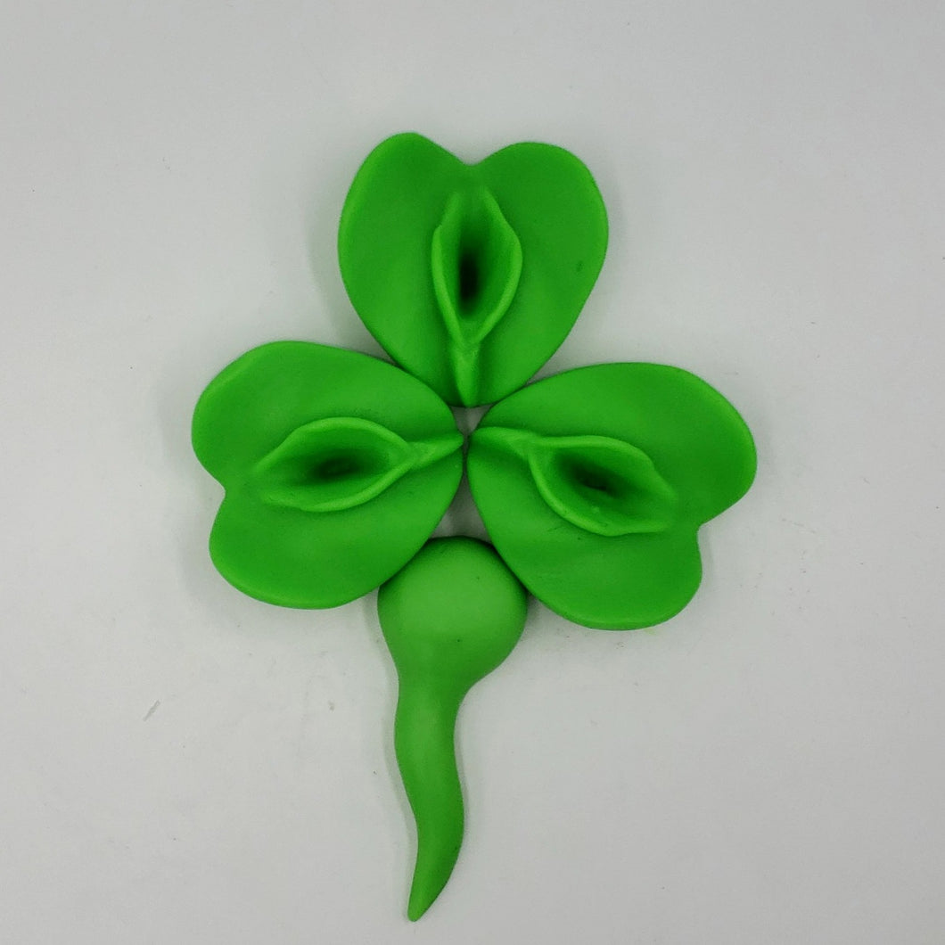 Irish St Patricks Vagina Soaps in Shamrock Green 'PussyBlossom' 3 Leaf Clover, 4 Leaf Clover or a 5 Leaf Party Clover