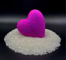 Load image into Gallery viewer, Purple Heart wholesale purple bath bomb heart, purple bath bomb heart, purple bath water, Lovers bath bomb heart, wholesale big bath bomb, Heart bath bombs, heart bath bombs bulk, bulk heart bath bombs, bath bomb heart, love bath bomb, valentine, bathroom decorations, bachelorette wedding gift, made in USA, bath bomb hearts valentines