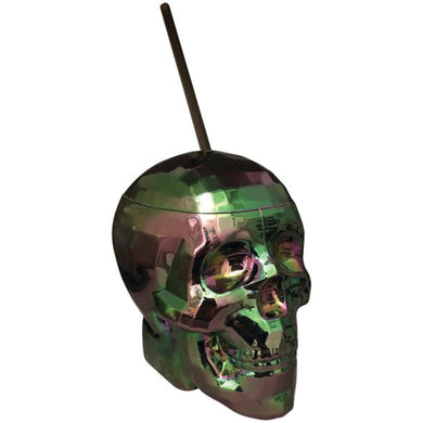 Skull Cup for the Party ~ Oil Slick Finish