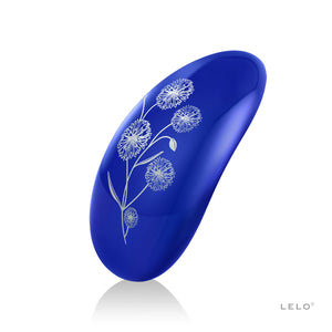 New! Midnight Blue Pretty Flowers. LELO NEA 2 Vibration Massager
