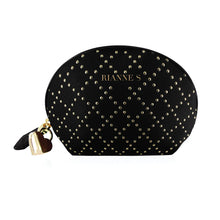 Load image into Gallery viewer, Vibration massager In a beautiful carry bag ~ Black luxury studded bag