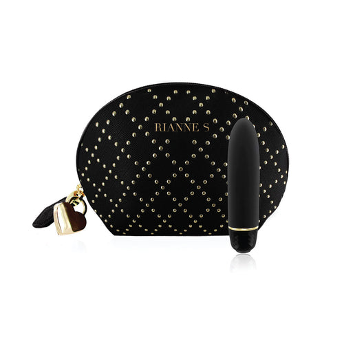 Vibration massager In a beautiful carry bag ~ Black luxury studded bag