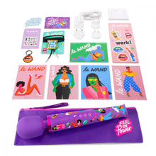 Load image into Gallery viewer, Le wand vibrator, special edition 20 vibration levels, Le Wand vibrator, large wand vibrator, discreet vibrator, rechargeable wand vibrator, clit vibrator, cosmopolitan magazine winner vibrator, winner best vibrator, couples vibrator, rechargeable wand vibrator, special edition, women power vibrator, purple vibrator, girl power vibrator, women empowerment vibrator