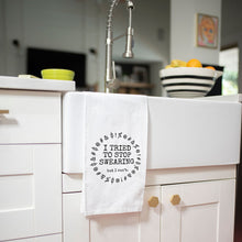 Load image into Gallery viewer, TWISTED WARES 'I TRIED TO STOP SWEARING BUT I CUN'T' FLOUR TOWEL