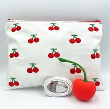 Load image into Gallery viewer, Cherry Bomb Vibrator with a FREE Cherry Cosmetic Bag! (wholesale options)