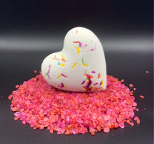 Load image into Gallery viewer, wholesale sprinkles bath bomb heart, sprinkles bath bomb heart, sprinkles bath water, Lovers bath bomb heart, wholesale big bath bomb, Heart bath bombs, heart bath bombs bulk, bulk heart bath bombs, bath bomb heart, love bath bomb, valentine, bathroom decorations, bachelorette wedding gift, made in USA, bath bomb hearts valentines