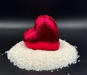 Heart Bath Bombs, Aqua Heart Individuals Made in the USA (wholesale)