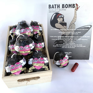 Bath Bomb Surprise Bullet Vibration Massager Inside Complete Display Set-up! (wholesale & drop-ship)