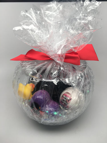 Fish Bowl Gift Bowl full of Bath Bombs