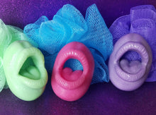 Load image into Gallery viewer, Mouth soap, weenie washer, butt plug soap, spermie soap, dick soap with suction cup, gag gift soap, Itsthebomb.com, sex party, sexy soap, sexy candy, sexy gift, dick soap, penis soap suction cup, rainbow, gay gift gift for him or her, spa, self love, novelty gift, bachelorette, bachelor, wedding party, gay, penis soap, dick soap, party soap, vagina soap, made in America, USA