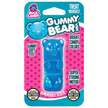Load image into Gallery viewer, Rock Candy Gummy Vibe Bear Massager - Blue - New!