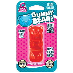 Rock Candy Gummy Vibe Bear Massager - Red - New!