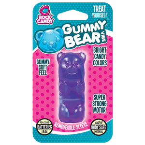 Rock Candy Gummy Vibe Bear Massager - Blue - New!