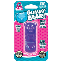 Load image into Gallery viewer, Rock Candy Gummy Vibe Bear Massager - Purple - New!