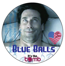 Load image into Gallery viewer, Bath bomb blue balls, blue balls, bath bomb, bath bomb, Cbd bath bomb, bath bomb bullet surprise vibrator, itsthebomb.com, its the bomb bath bomb, swinger party, candy lip bath bomb, gay party, bachelorette party, wedding gift, gay wedding gift, made in America, USA,