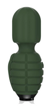 Load image into Gallery viewer, Military grenade, military massager hand Grenade bomb vibrator, unisex vibrator, massager gun, gay, man vibrator, grenade, grenade massager vibrator, rechargeable vibrator, camouflage vibrator, camouflage massager