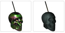 Load image into Gallery viewer, Party Cup Skull Party Cup with Straw ~ Oil Slick Finish