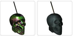 Party Cup Skull Party Cup with Straw ~ Oil Slick Finish