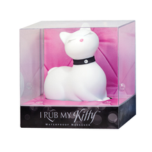 Load image into Gallery viewer, Cat lover vibrator, vibrator cat, cat massager, here kitty kitty, discreet vibrator toy, white kitty toy, cat vibrator, discreet cat vibrator