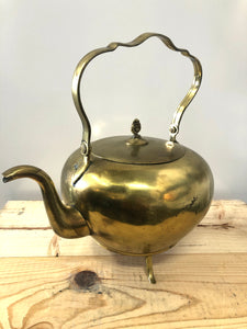 Large Primitive Metal Kettle with Lid
