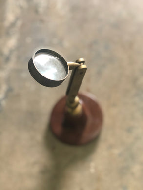 Brass & Wood Magnifying Glass