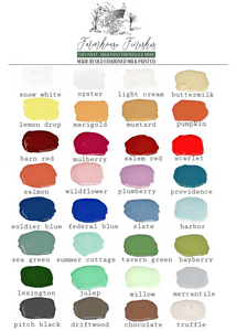 Farmhouse Finishes Safe Paint Color Card