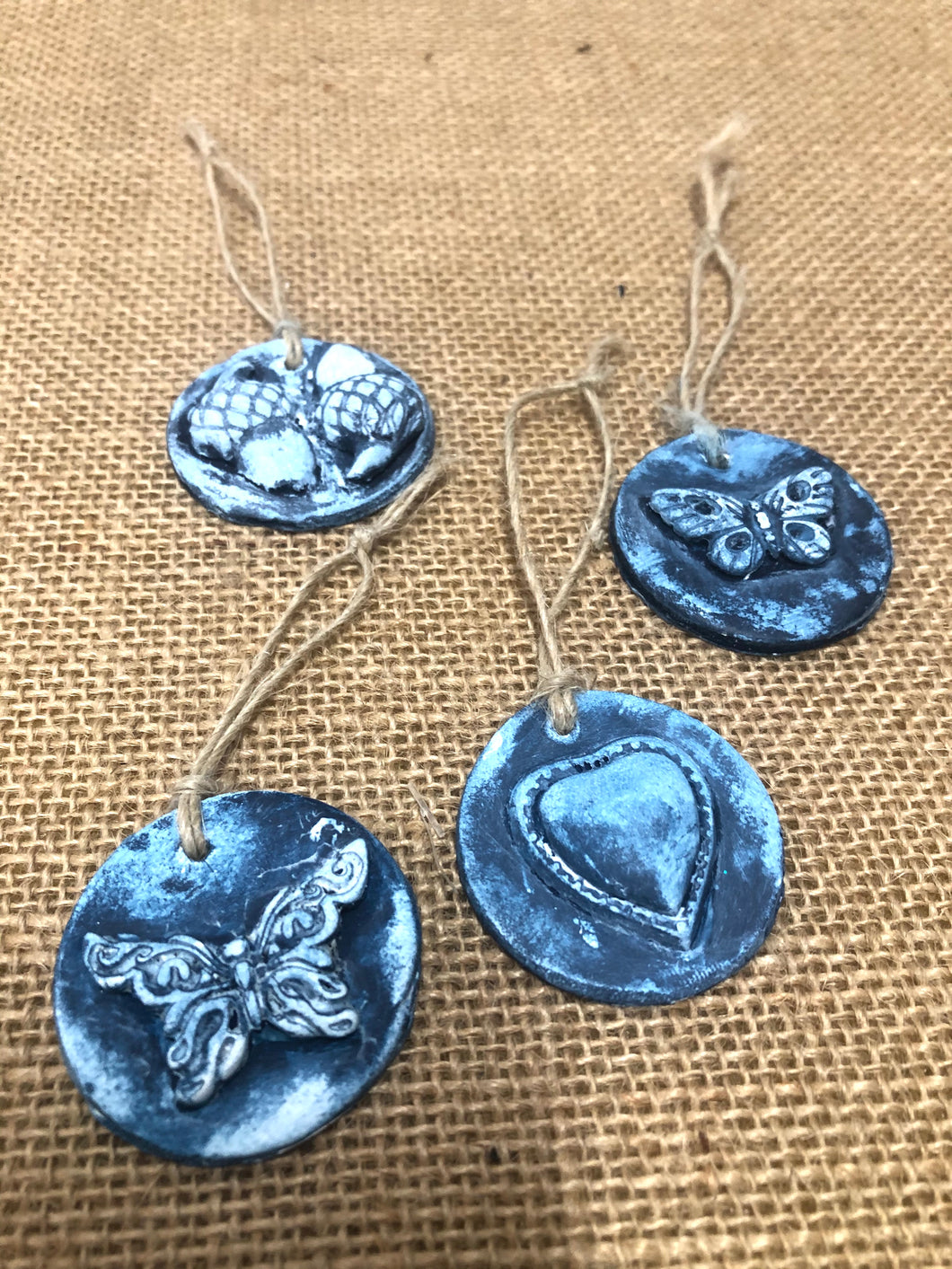 Small Raised Clay Ornaments